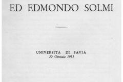 1955 Onoranze ai fratelli Solmi Università di Pavia