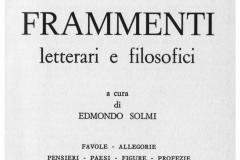 3-E.Solmi Leonardo Frammenti letterari e filosofici 1925 1979 nota di P.C.Marani