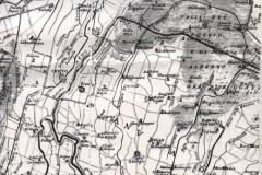 7 - Carta 1800 circa, stralcio aree vallive intorno al nuovo Reno